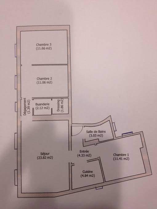 Plan de la maison avant les rénovations