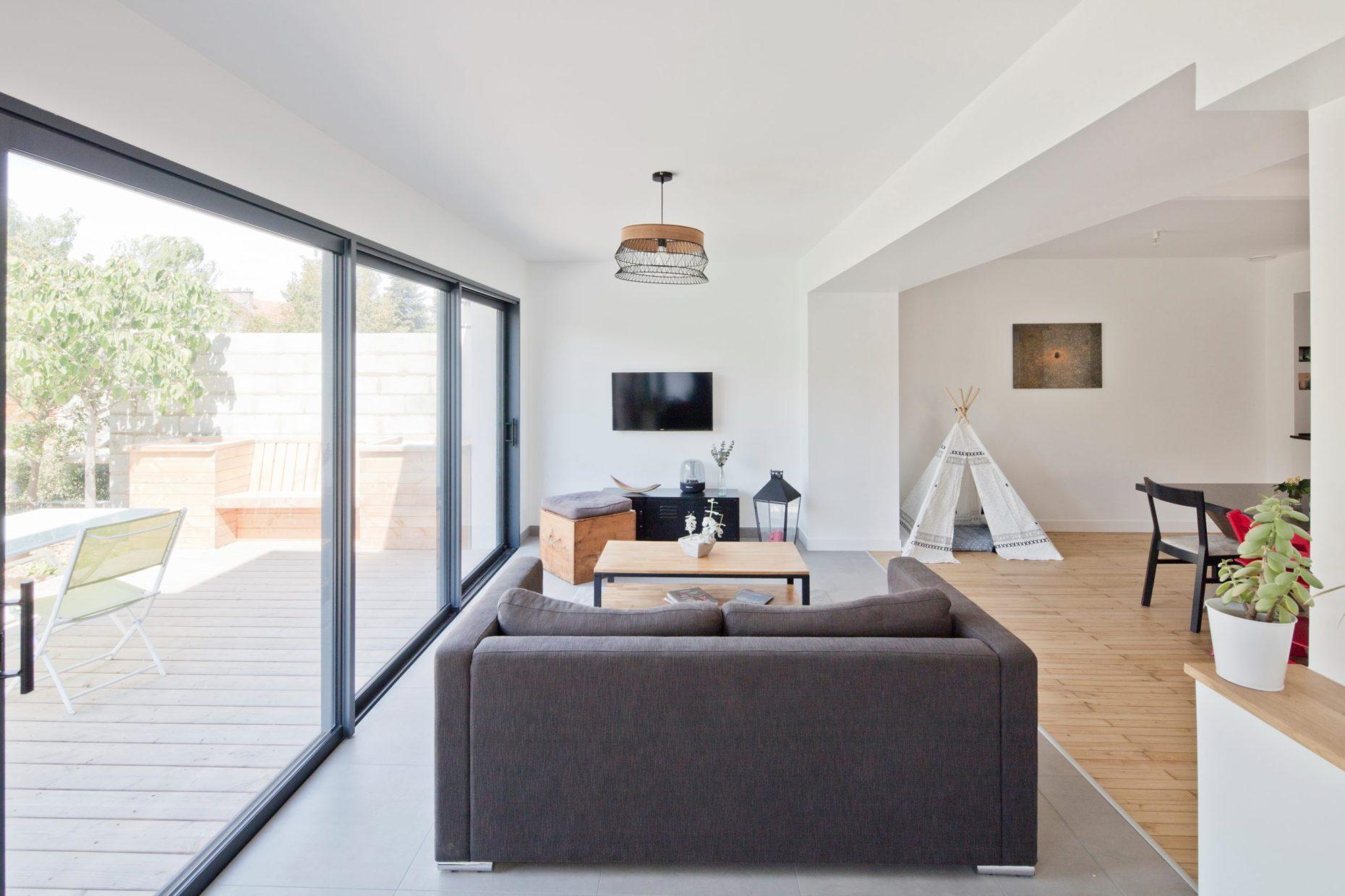 Intérieur extension maison