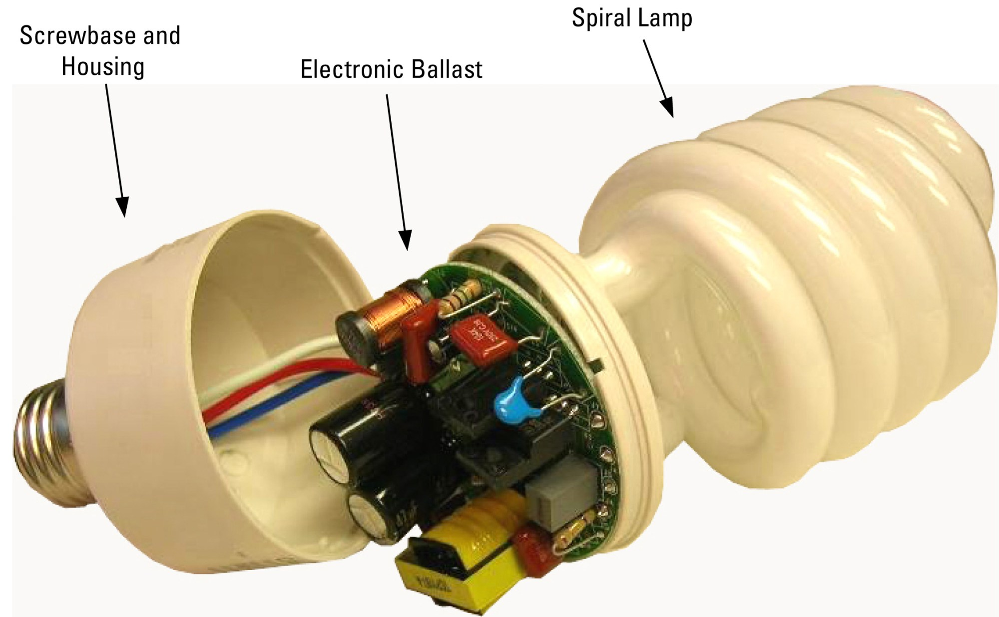 hight resolution of compact fluorescent bulb with integrated ballast