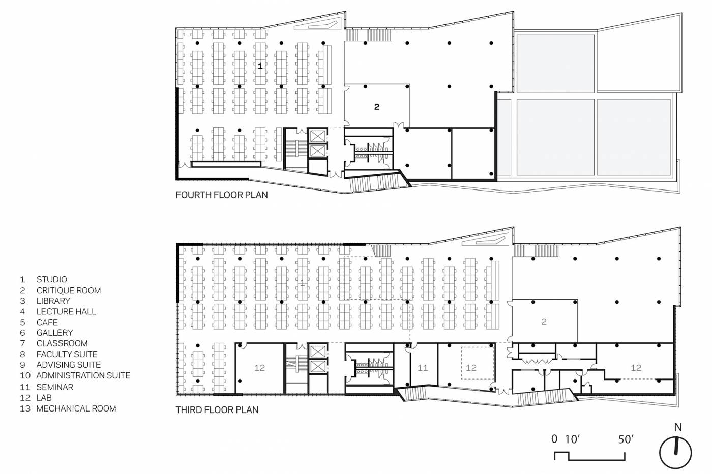 Architectural Drawings: 10 Modern Architecture Schools in