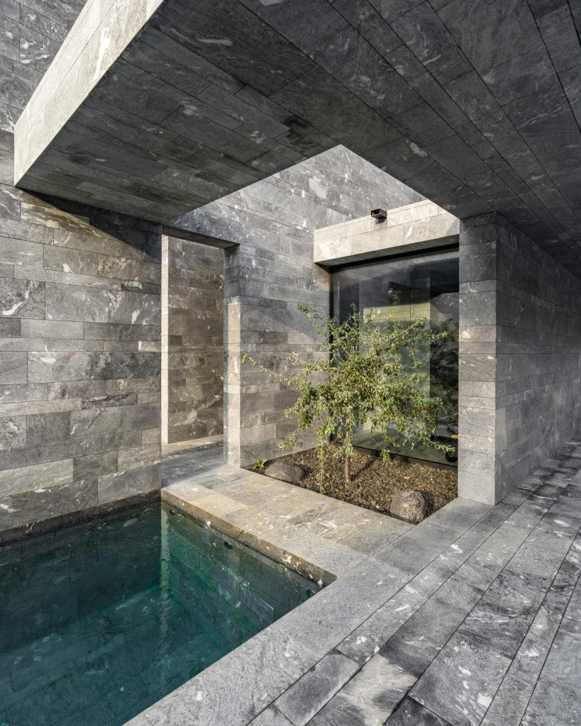 Matériau architectural Spa Pavilion par smartvoll, Hinterbrühl, Autriche