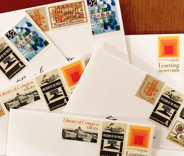 Thank You Letters From The Internet Archive To Our Donors Mailed With Vintage Stamps