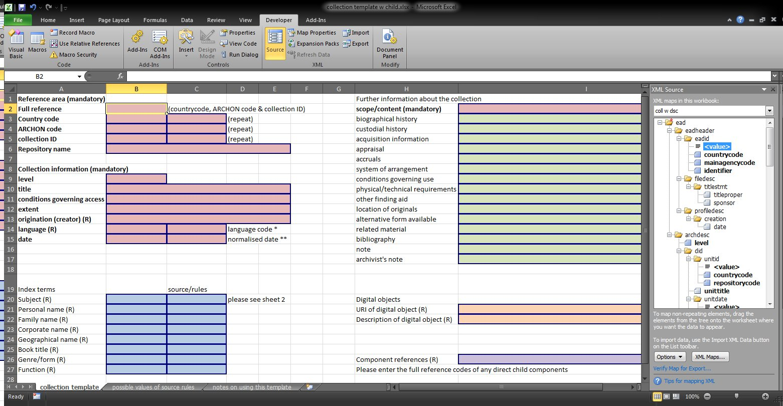 Data Entry Excel Template