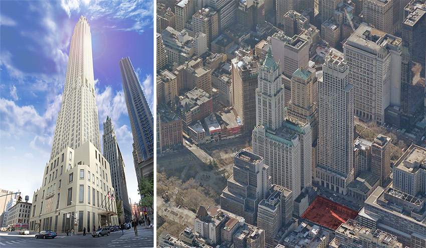 Stalled Residential Tower in Lower Manhattan to Rise Next to Woolworth Building  Archpapercom