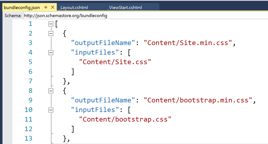 Exemple de configuration dans Visual Studio