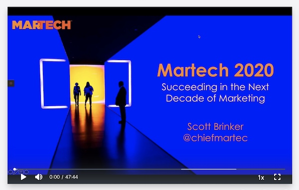 MarTech West 2019 Opening Keynote (recreation)