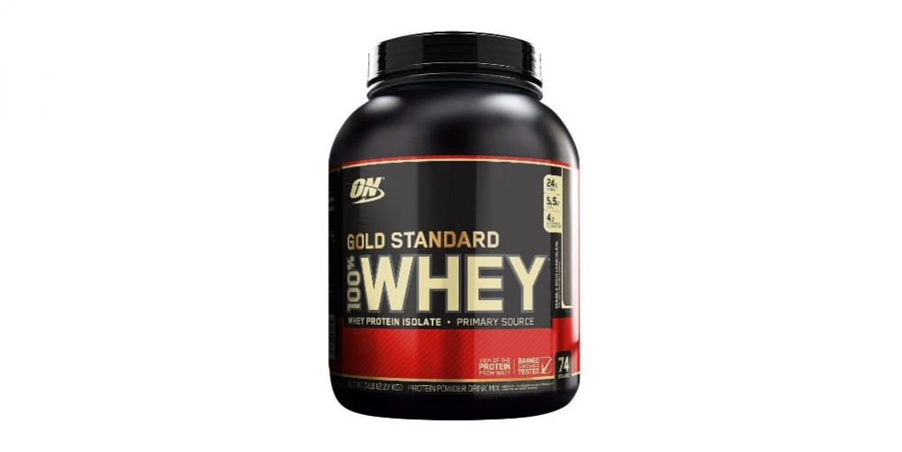 Optimum Nutrition Gold Standard 100% Whey Protein Powder [19659007] Crédit d'image: Vitamine Shoppe</p data-recalc-dims=