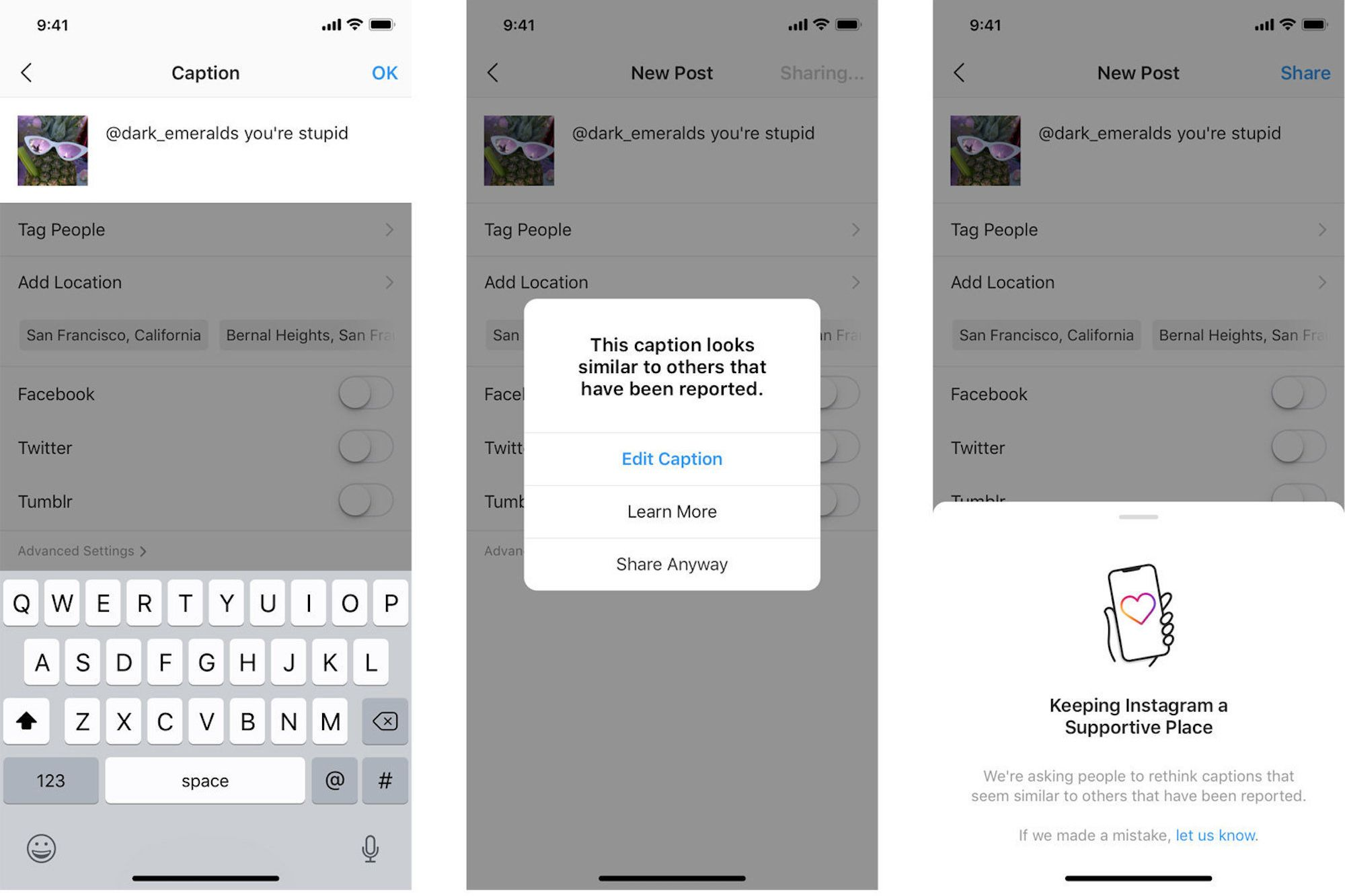 Instagram Is Using AI to Alert Bullies to Offensive Captions