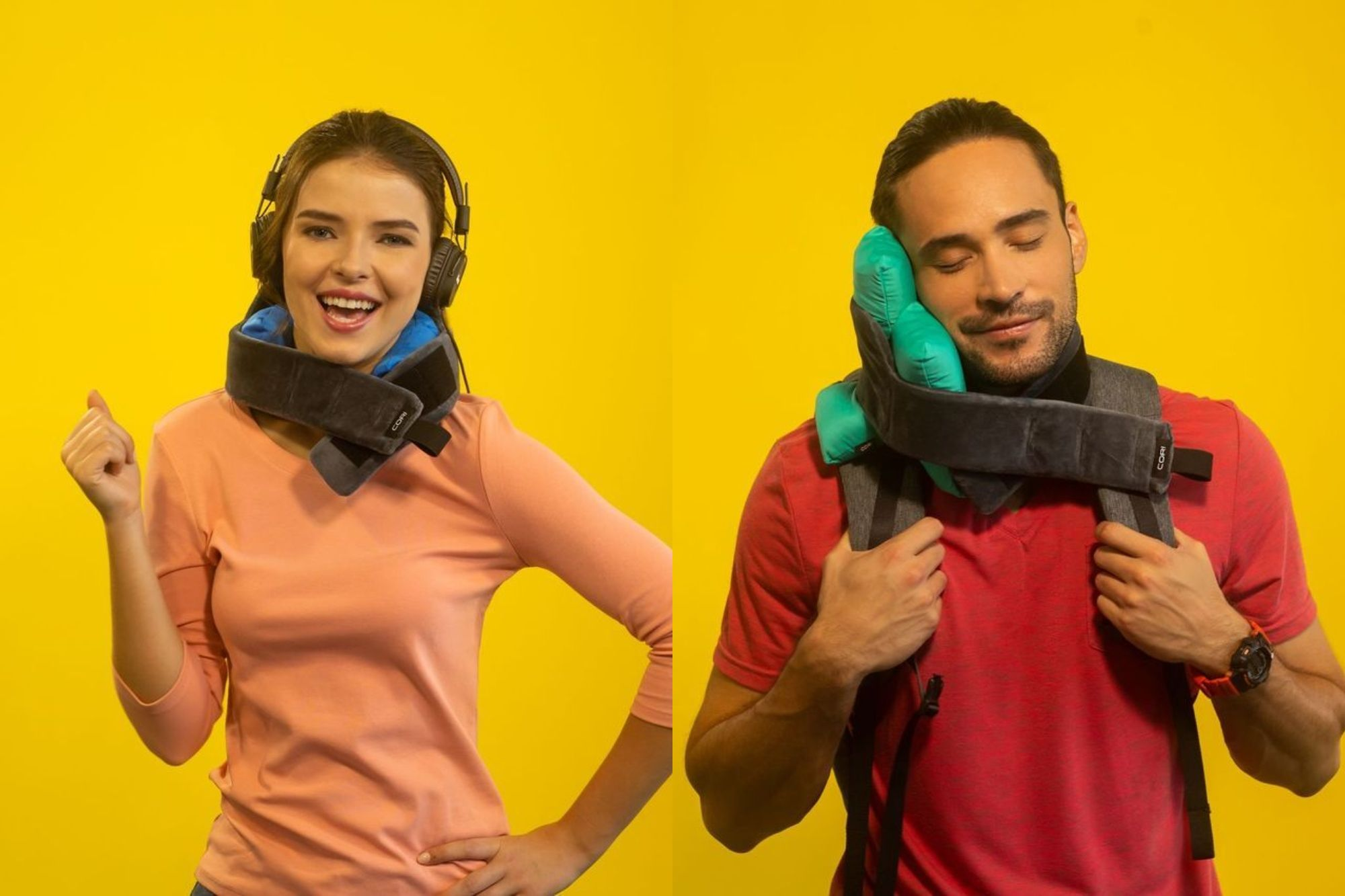 Catch Up on Sleep Anywhere with This Customizable Travel Pillow