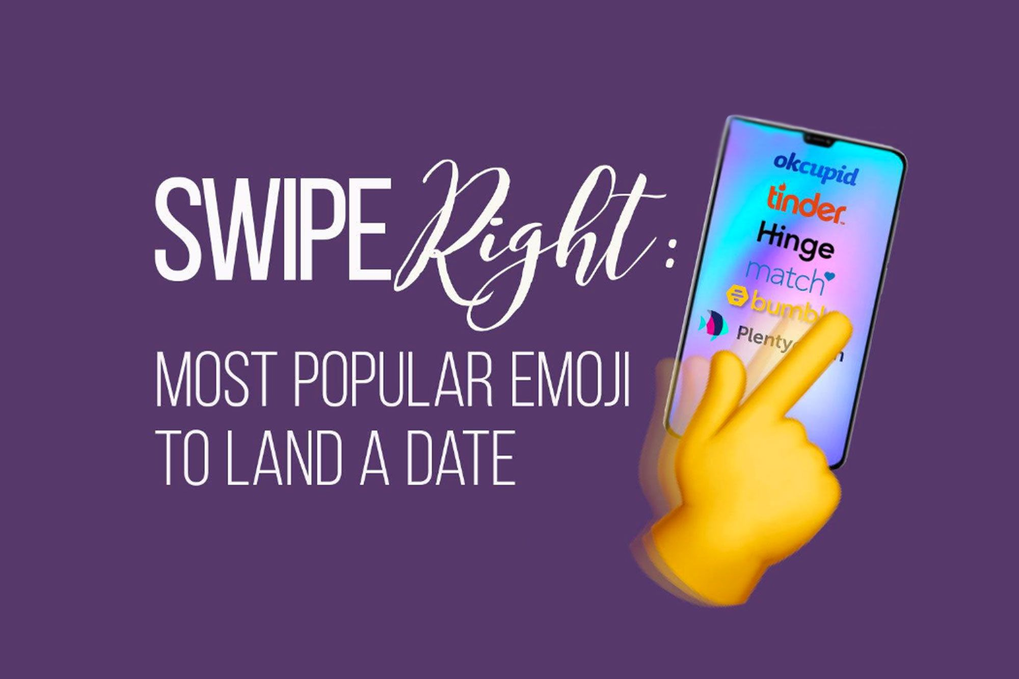 The Most Popular Dating App Emoji Is Not What You'd Think