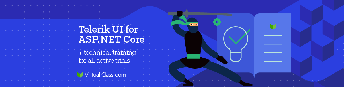 Telerik ASP.NET Core Free Trial with online training included