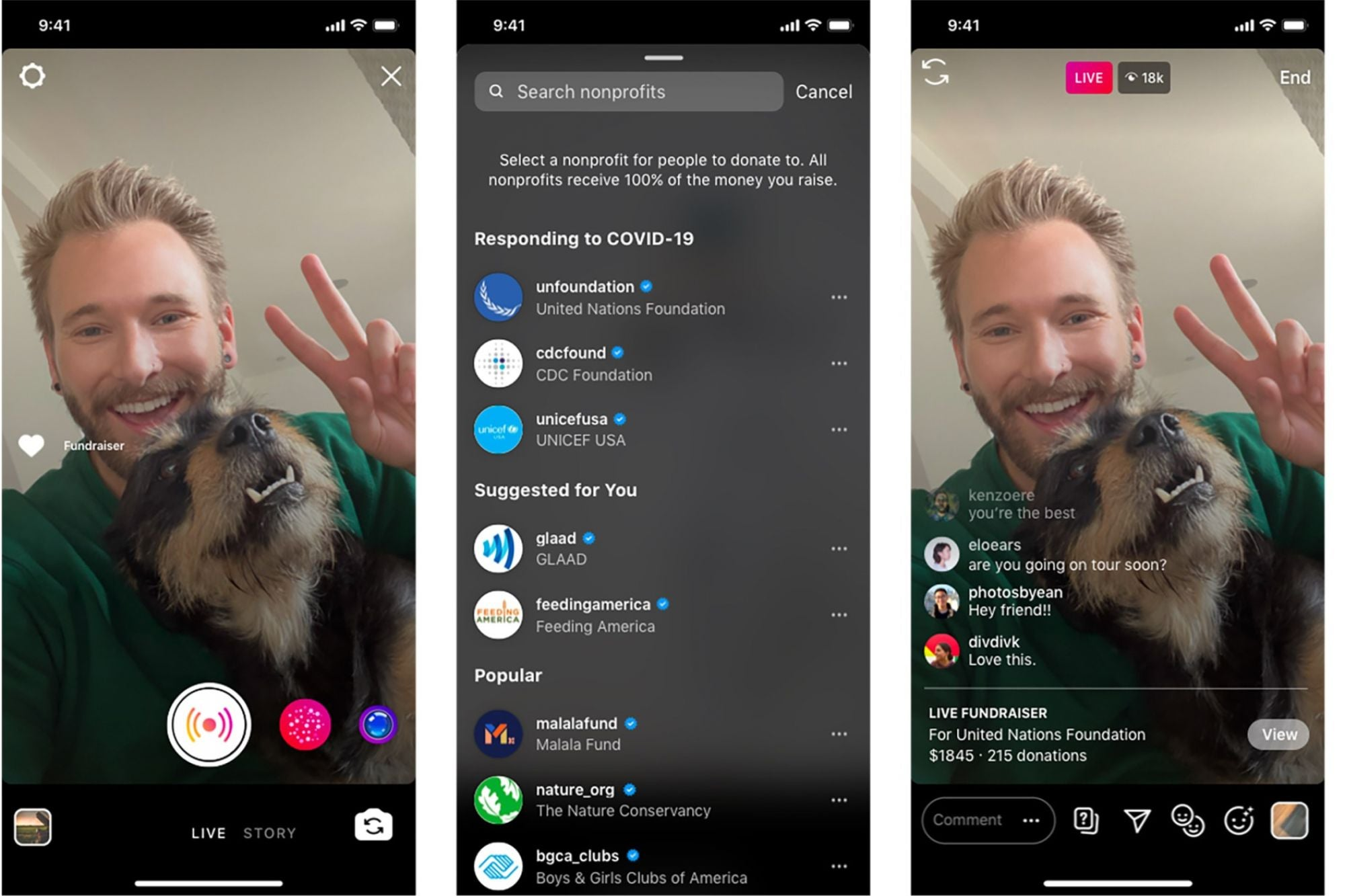 Raise Money for Charity With Instagram's New Live Donations