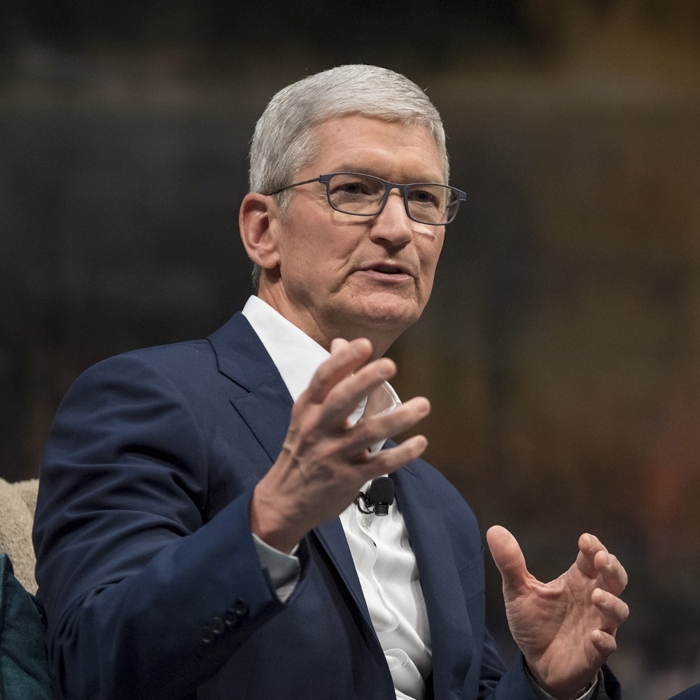Le PDG d'Apple, Tim Cook