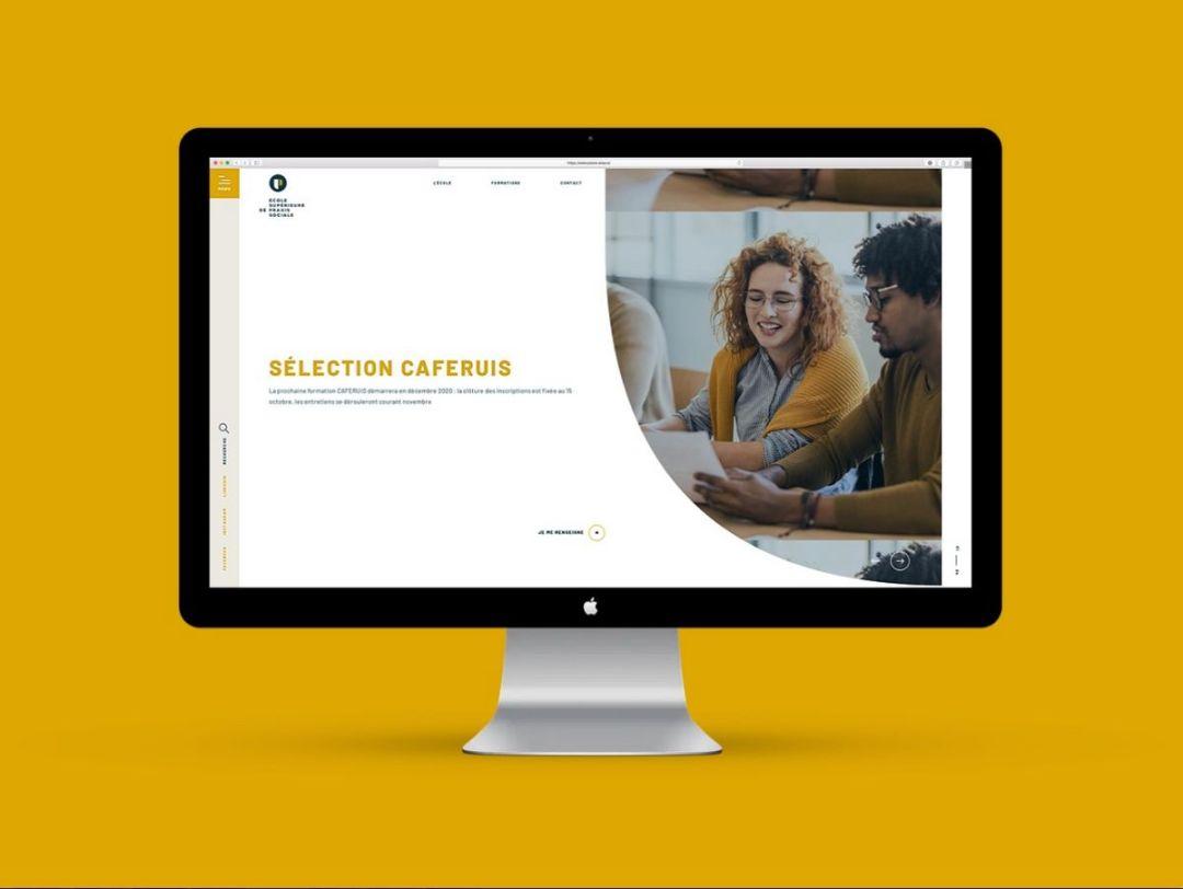 La création d'une navigation intuitive sur votre site est cruciale : ici le site internet de l'Ecole Supérieure de Praxis Sociale à Mulhouse en Alsace.