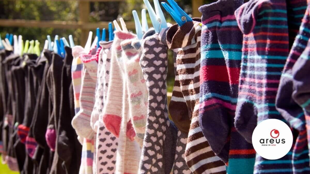 Vizes zoknik egy szárítón