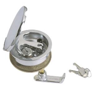 cerrojo tirador empotrable con tapa y cerradura de barco