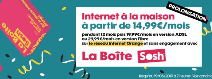 box internet l offre sosh adsl ou
