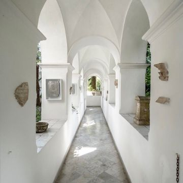 Garden hall of Villa San Michele Italy