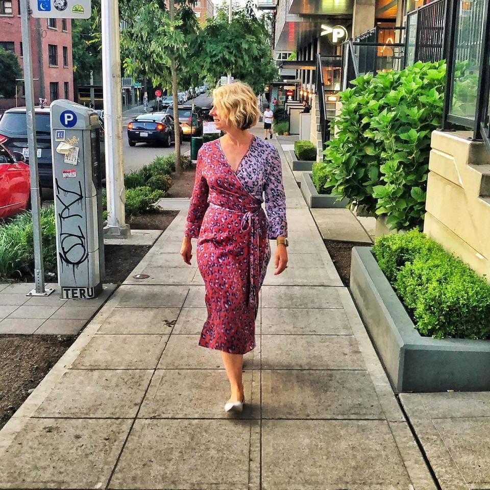 Katrina Taylor wears Armoire