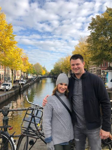 Jenn Mapp Bressan with husband