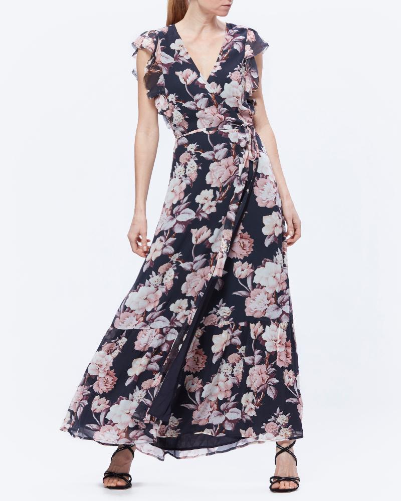 Paige floral midi dress