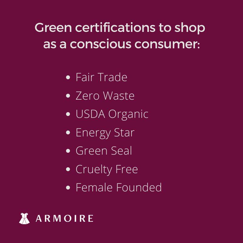 conscious consumption green certifications