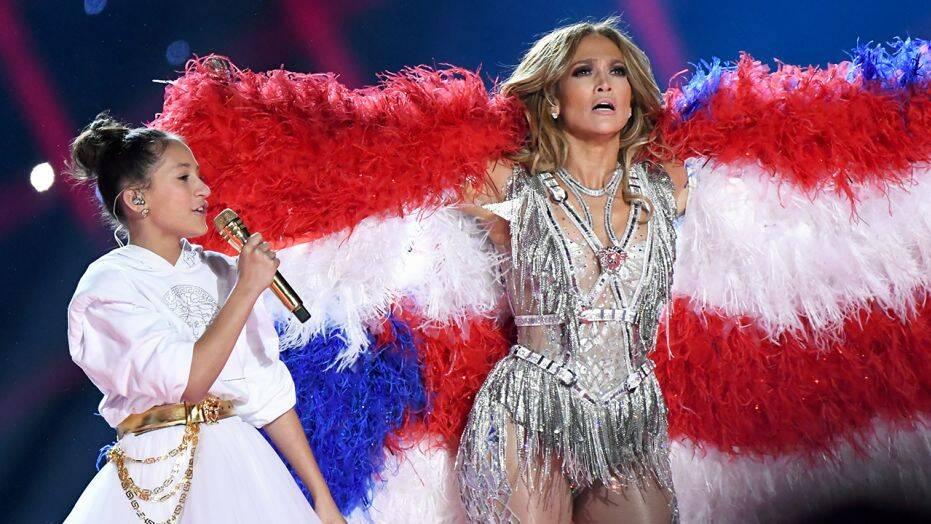 Jennifer Lopez Emme Lopez Super Bowl Halftime Show