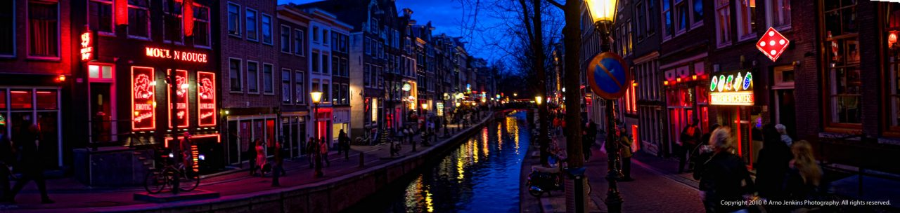 Red Light District Amsterdam Panorama