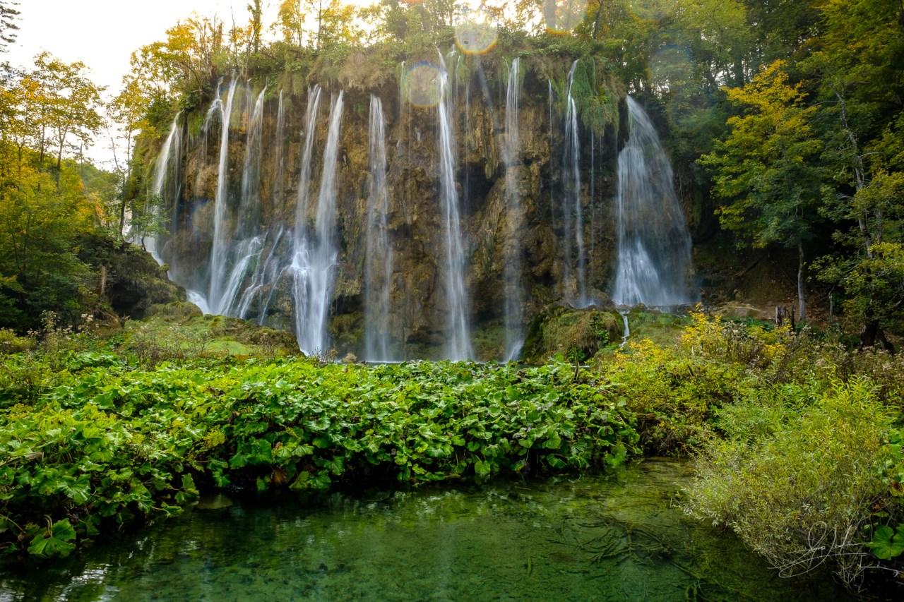 Waterfalls at Plitvice Lakes National Park Croatia