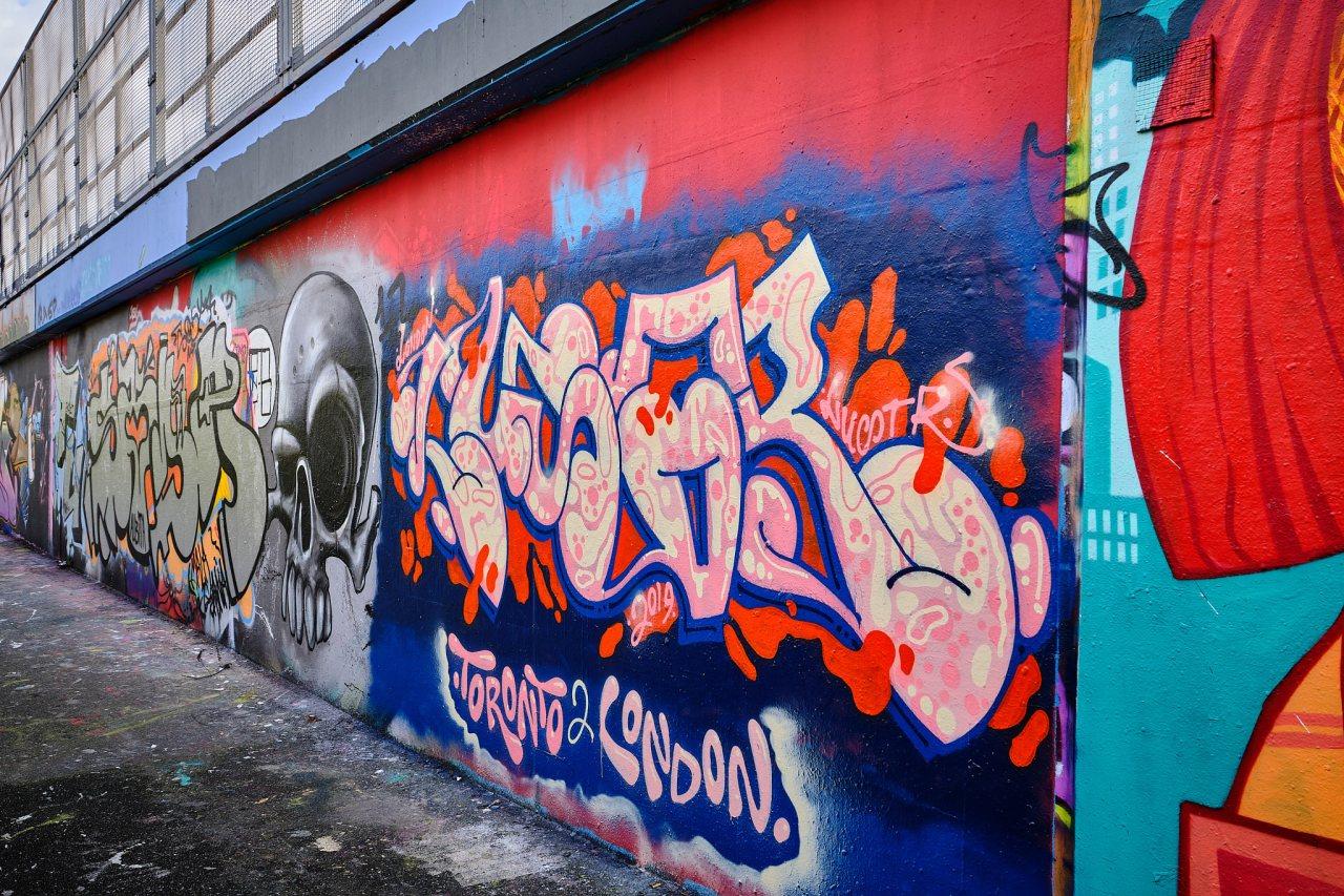 Wall Of Graffiti - Shoreditch, London