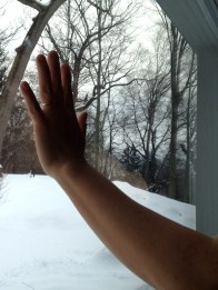 Despite the fact it was a cold winter day, the inside of the window was not cold to the touch.