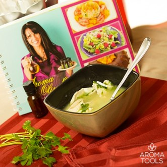 Healing Soup with Cilantro and Ginger