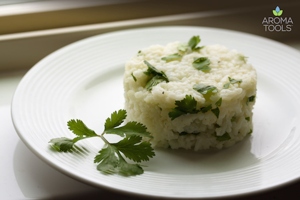 Cilantro Lime Rice with Essential Oil