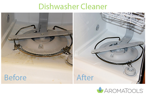 Cleaning the Dishwasher with Lemon Essential Oil