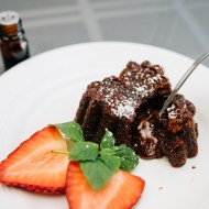 Mint Chocolate Lava Cakes