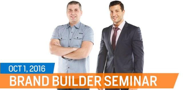 Brand Builder Seminar - Amer Kamra and Arthur Kwiatkowski