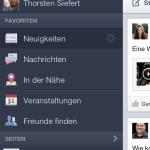 Off Canvas Lösungen: Facebook App