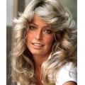 Farrah fawcett feathered hair