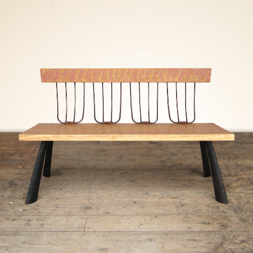 Painted Pitchfork Bench by Brad Smith