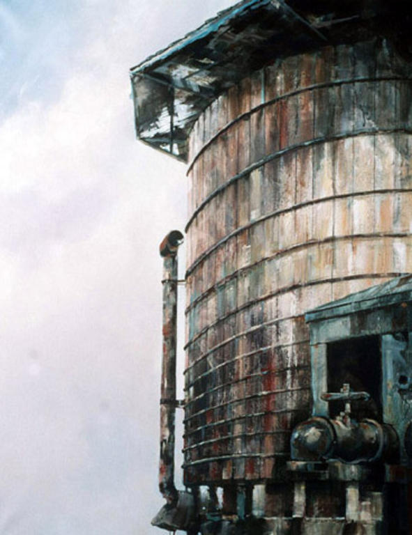 Watertower at Embudo Station by Rod Guthrie