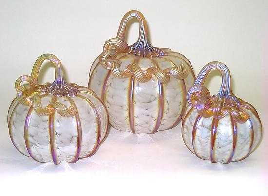 White Gold Pumpkins by Ken Hanson and Ingrid Hanson