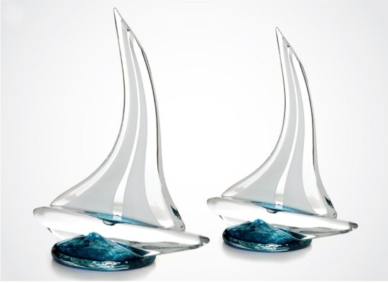 Glass Sailboats by Anchor Bend Glassworks