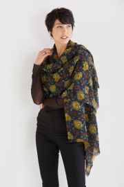 Flower and Wool Scarf by Maliparmi available at Artful Home