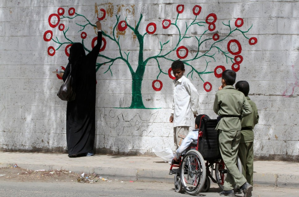 Image from Murad Subay's 1st Campaign 'Color the Walls of your Streets', Sana'a, Yemen, 2012