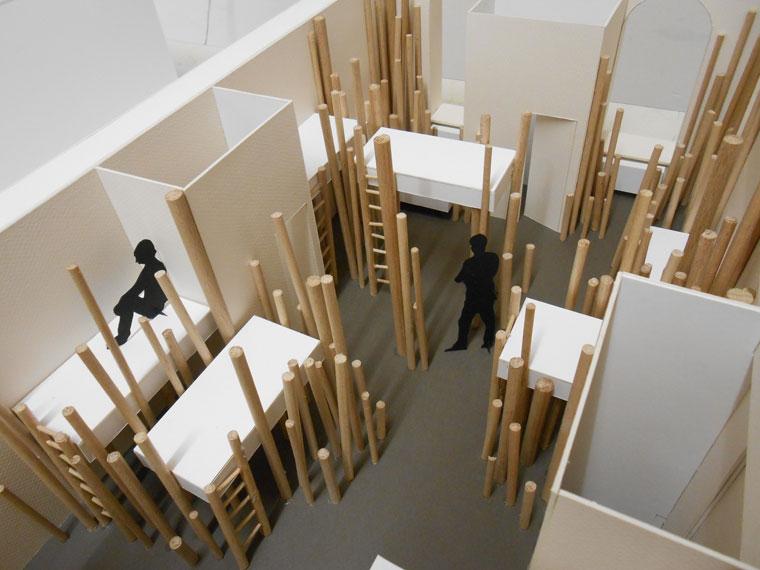 Amnagement dune chambre dortoir dans une auberge de jeunesse  Architecture dintrieur