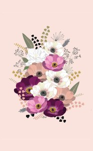 by Anis Illustration  ANEMONES BOUQUET NUDE