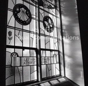 Shell-Butterfly window - cropped B&W watermarked