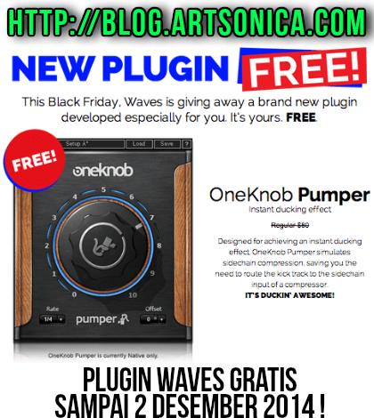 dapatkan gratis plugin waves oneknob pumper seharga 80. Black Bedroom Furniture Sets. Home Design Ideas
