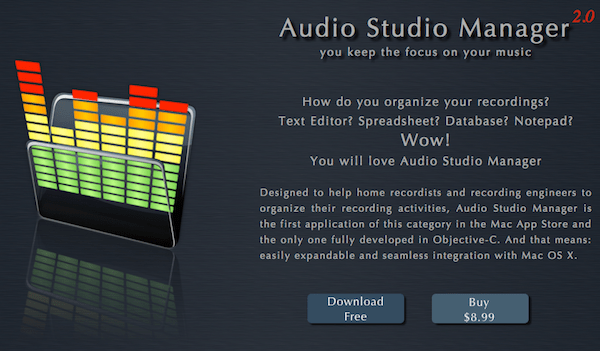 Audio Studio Manager v2