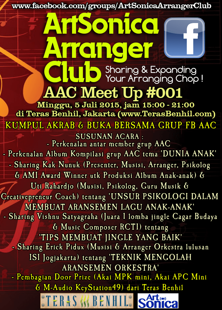 ArtSonica Arranger Club (AAC) Meet Up ke-1, 5 Juli 2015 di Teras Benhil, Jakarta